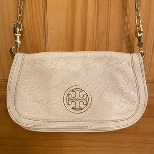 Tory Burch Cream Leather Bag
